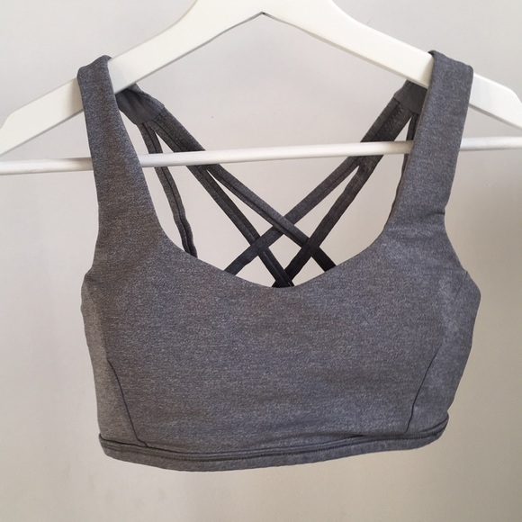 36c9b67299 lululemon athletica Other - Lululemon strappy sports bra 4 gray